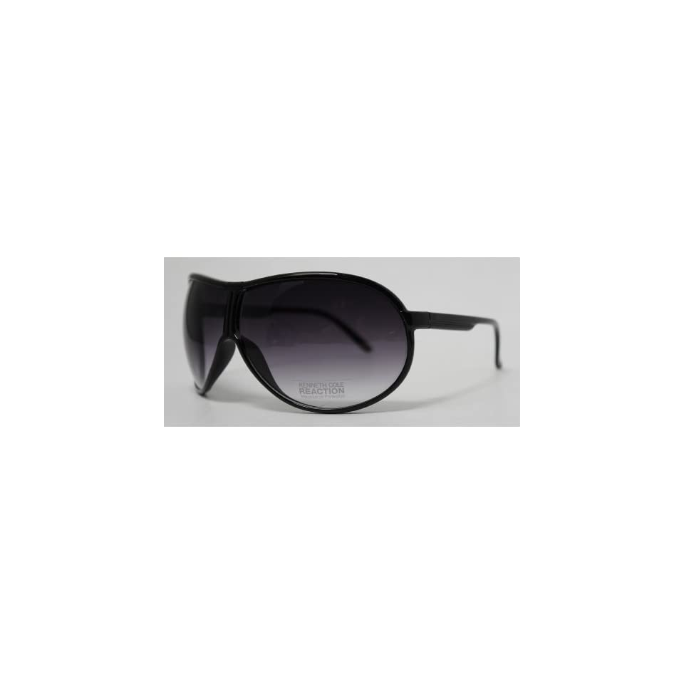 54e94dccf388a Kenneth Cole Reaction Sunglass Black Shield Fashion Plastic Wrap on ...