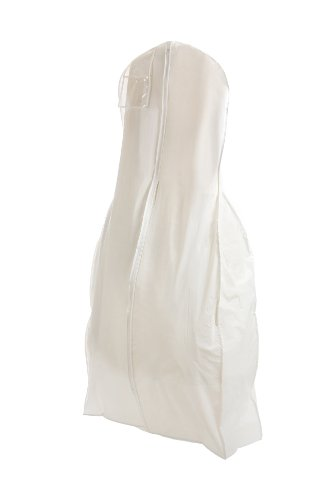 New X-large Breathable White Wedding Gown Garment Bag by BAGS FOR LESSTM