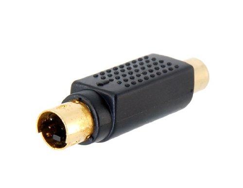 Vergoldet S4P Male Port RCA Female Port Adapter (Schwarz)