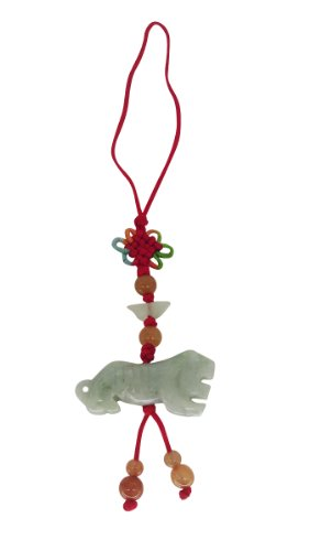 Lucky Real Jade Phone Charm Chinese Year of The Tiger