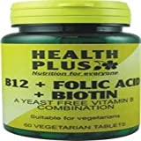 Health Plus B12 + Folic Acid + Biotin 60 Tablet