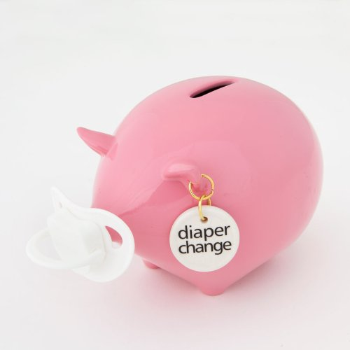 Enesco Money Talks - Diaper Change Pink Money Bank