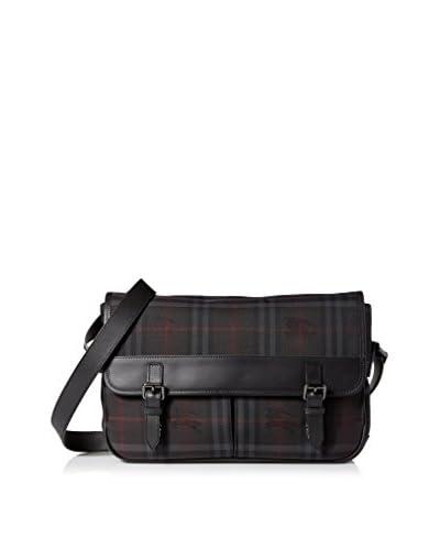 Burberry Men's Horseferry Check Messenger Bag n, Black, One Size