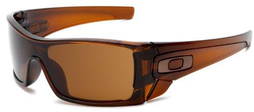 Oakley Men's Batwolf Rectangular Sunglasses,Polished Rootbeer Frame/Dark Bronze Lens,one size