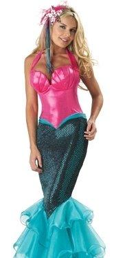 Sexy Adult Halloween Costumes Pink Mermaid Costume