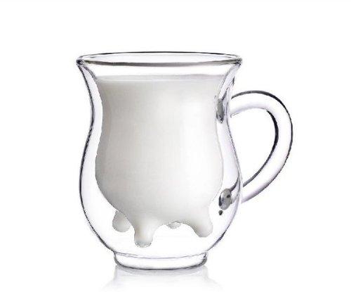 Mini Udder Shaped Glass Creamer Mug Milk Bottle Milk Jug
