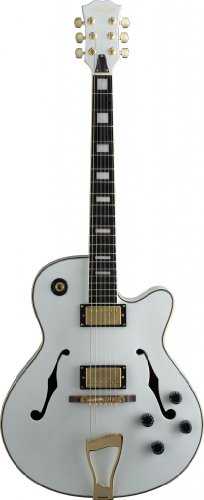 """Stagg A300-Wh """"Jazz"""" Style Semi-Acoustic Model Electric Guitar - White"""