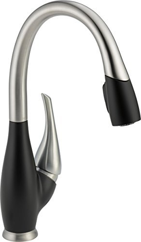Delta Faucet 9158-SB-DST Fuse, Single Handle Pull-Down Kitchen Faucet, Stainless/Black by DELTA FAUCET (Delta Fuse Kitchen Faucet compare prices)