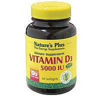 Natures Plus Vitamin D3 5000iu 60 Softgels