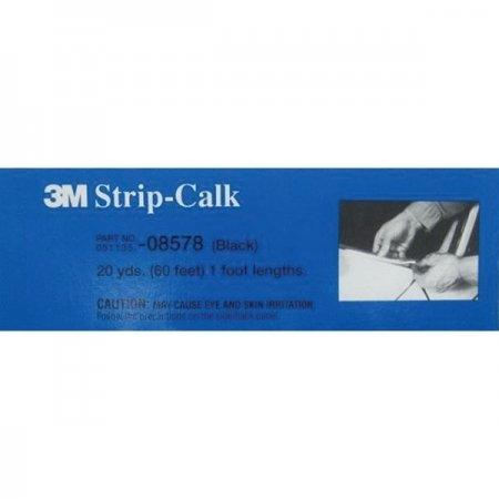 3M 08578 Black 1' Strip Calk, (Box of 60)