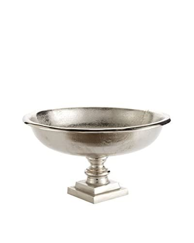 Napa Home and Garden Large Halston Footed Bowl, Silver