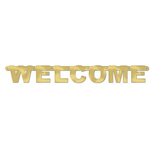 Foil Welcome Streamer Party Accessory (1 count) (1/Pkg)
