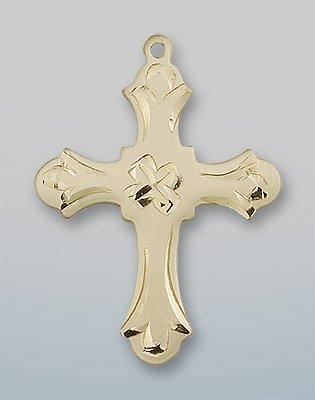 14kt Gold Cross Medal loverjewelry 11x13mm 14kt 2t018