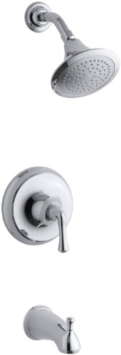 Kohler K-T10274-4A-CP Forte Rite-Temp Pressure-Balancing Bath and Shower Faucet Trim (Polished Chrome)