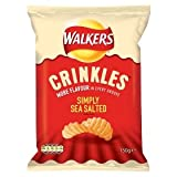 Walkers Crinkles Simple Sea Salt Crisps 150g 150g