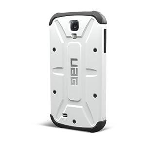 Urban Armor Gear UAG-GLXS4-WHT/BLK-W/SCRN-VP Composite Case für Samsung Galaxy S4 mit Screen Kit/Visual Packaging Weiß/schwarz