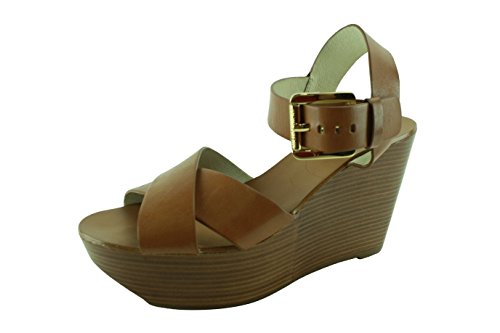 Michael Michael Kors Women'S Peggy Wedge (Luggage Leather 9.0 M) front-277892