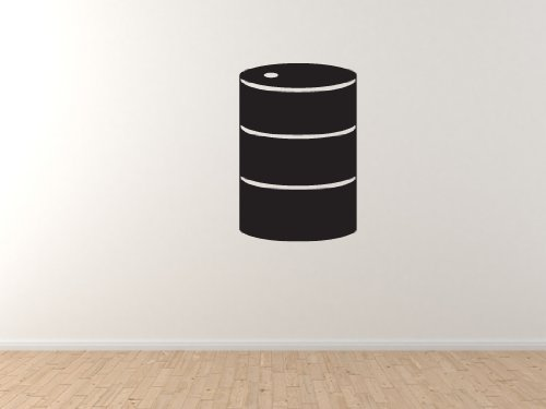 "Industry #1 - Drum Barrel Roll Chemical Oil Gas Guzzler - 45"" Black Wall Vinyl Decal Decorative"