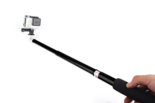 NEOpine Extendable Telescopic Handheld Pole Arm Multi-functional Monopod MOP-02 with Tripod Adapter for GoPro Hero Sport Camera Series & Compact Digital Camera Black