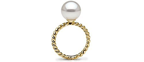Pearl Paradise Women's Twist Freshadama Cultured Pearl Ring