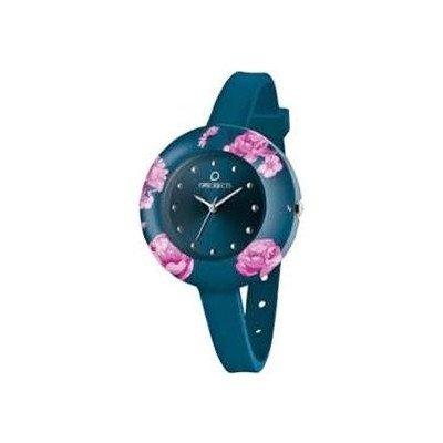 OPUS SYSTEMS OBJECTS OPSFLOWER WATCHES · Armbanduhr | Uhrarmband | Uhrband · blau dunkelblau pink silber