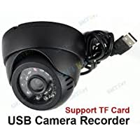 Shopping Redefined (TM) CCTV Dome 24 IR Night Vision Camera DVR with Memory Card Slot Recording (USB) + 2 Years Warranty