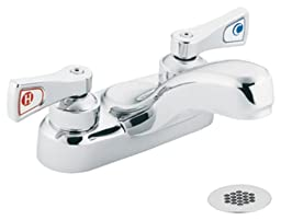 Moen 8218 Commercial M-Dura 4-Inch Centerset Lavatory Faucet with Grid Strainer 2.2 gpm, Chrome