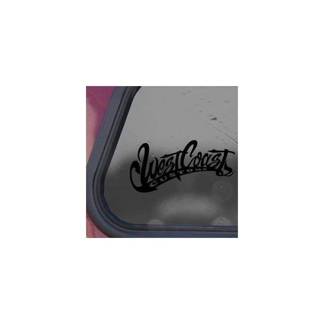 West Coast Customs Black Sticker Decal Wide Giant Die cut Black Sticker Decal   Decorative Wall Appliques