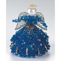 Birthstone Angel Ornament Bead Kit - September Sapphire - 1