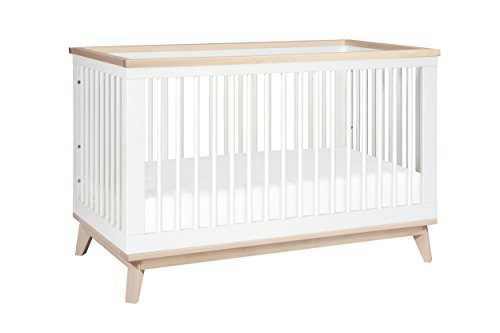 Babyletto Scoot 3-in-1 Convertible Crib, White/Washed Natural