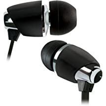 BELLO BDH440BK BLACK & CHROME IN-EAR HEADPHONE INCLUDES 3 SIZES OF EARBUDS