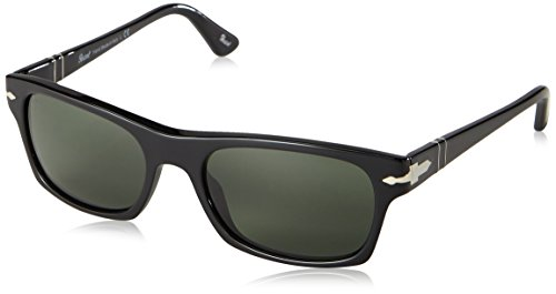 Persol PO3037S Sunglasses-95/31 Black (Crystal Green Lens)-57mm
