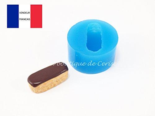 Moule silicone eclair au chocolat pour fimo, pâte à modeler, resine, porcelaine froide