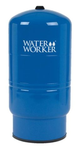 WaterWorker HT-30B Vertical Pressure Well Tank, 30-gallon tank with 26-gallon capacity, Blue