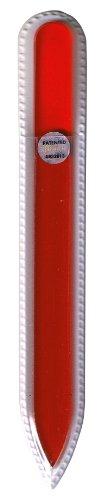 ブラジェク ガラス爪やすり 140mm 片面タイプ オールカラー オレンジ Bー02