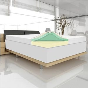 "4"" Memory Foam Mattress Topper By Spa Sensations (Cal King)"