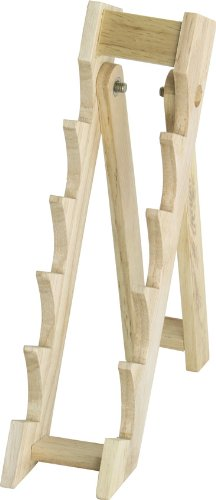 """MI162 Display Stand Stands Approximately 10 1/8"""" High Light Brown Wood Const"""