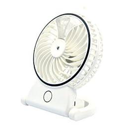 Humidifier Fan Handheld USB Mini Misting Cooling Fan Humidifier, white