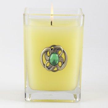 Orange & Evergreen Medium Glass Cube 12oz Candle by Aromatique