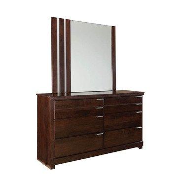 Standard Furniture Strata 6 Drawer Dresser w/ Mirror in Warm Brown