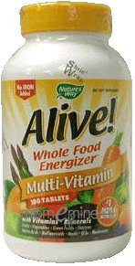 Alive! Multi-Vitamin (no iron) 180 Tablets by Nature's Way