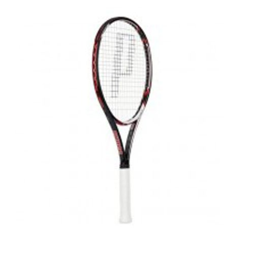 Prince EX03 Red Tennis Racquet - Black/White/Red, 2 Grip