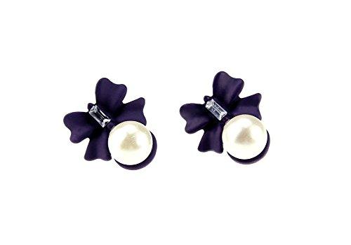 Demarkt Schöne Mode Kleine Marienkäfer Bogen Ohrringe mit Perle Mode Schmuck