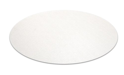 Cleartex UltiMat Polycarbonate General Purpose Mat for Hard Floors, Low/Medium Pile Carpets - up to 1/2 Inch Thick, 24 Inch Circular, Clear (126020RR)