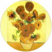 Van Gogh Sunflowers Pin