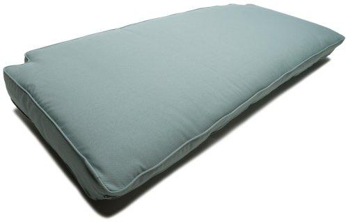 Strathwood Camano All-Weather Wicker Sofa Olefin Cushion, Blue Haze image