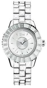 Christian Dior Christal Mother of Pearl Dial Stainless Steel White Sapphire Diamond Ladies Watch CD113112M003