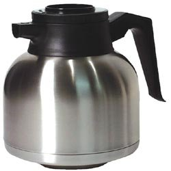 Vacuum Insulated Coffee Server Stainless Steel w Bru-Thru Lid (1.9 Litter 64 Oz.) by Chef Kitchen