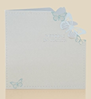 6 Aqua Butterfly Wedding Invitations