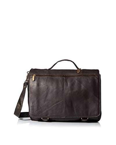 David King Men's Expandable Briefcase, Café